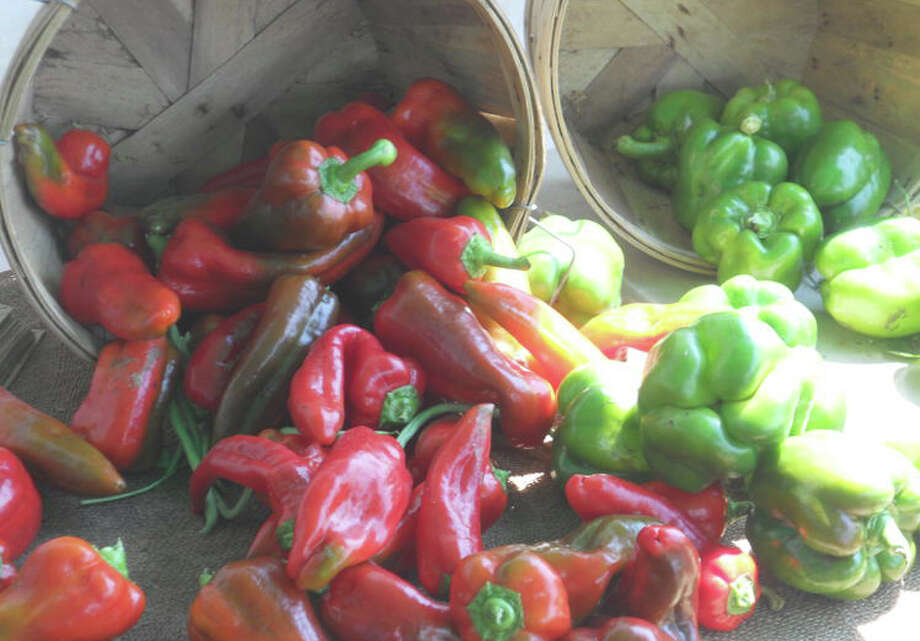 Don't be overwhelmed by what to do with summer's bounty, such as these bushels of peppers. Photo: Patti Woods / Fairfield Citizen contributed