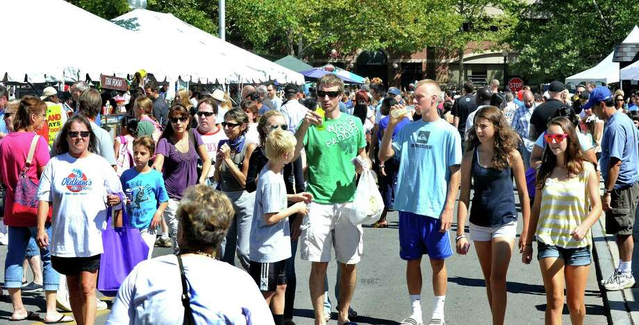A huge crowd turned out for a Taste of Danbury, Sunday, Sept. 9, 2012. Photo: Michael Duffy