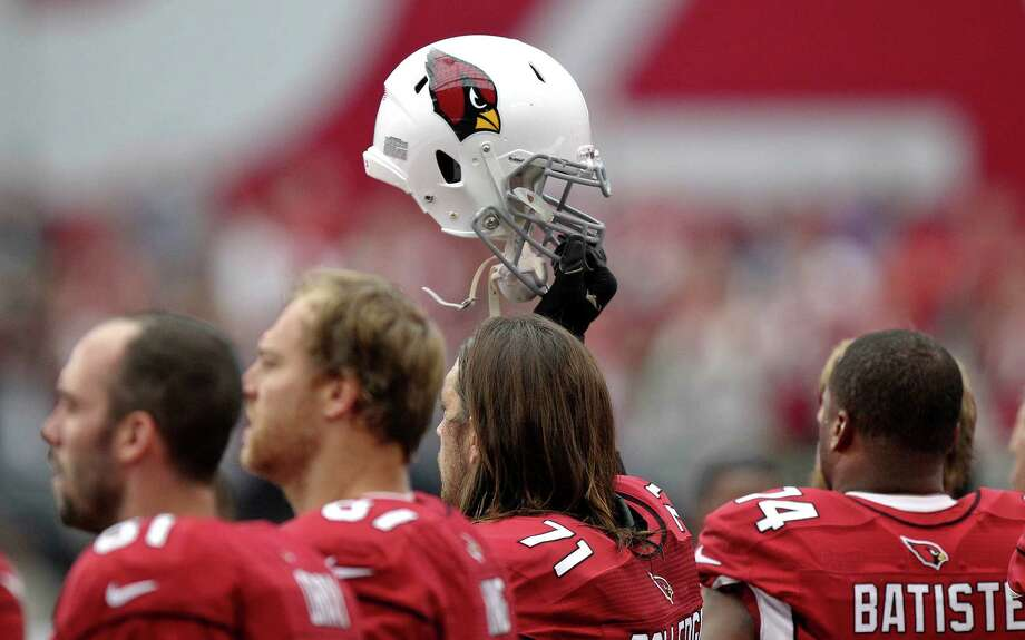 The Arizona Cardinals stand on the sidlines against the Seattle Seahawks during the first half of an NFL football game, Sunday, Sept. 9, 2012,in Glendale, Ariz. Photo: AP