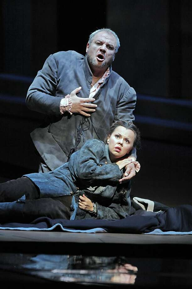 "Zeljko Lucic plays Rigoletto and Aleksandra Kurzak plays Gilda in Friday's performance of ""Rigoletto"" at S.F. Opera. Photo: Cory Weaver"