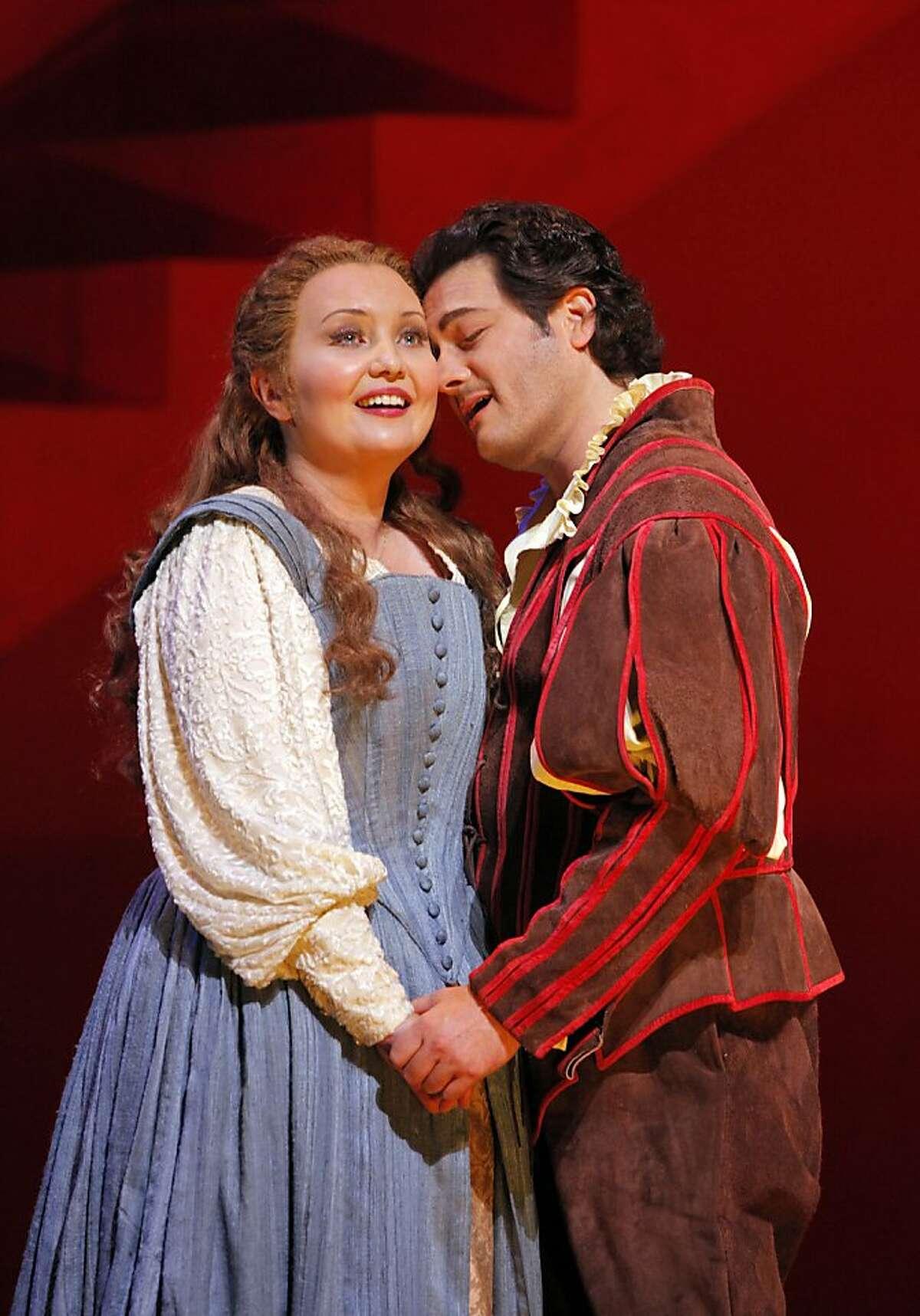 Rigoletto Albina Shagimuratova (Gilda) and Arturo Chac-n-Cruz (The Duke of Mantua).