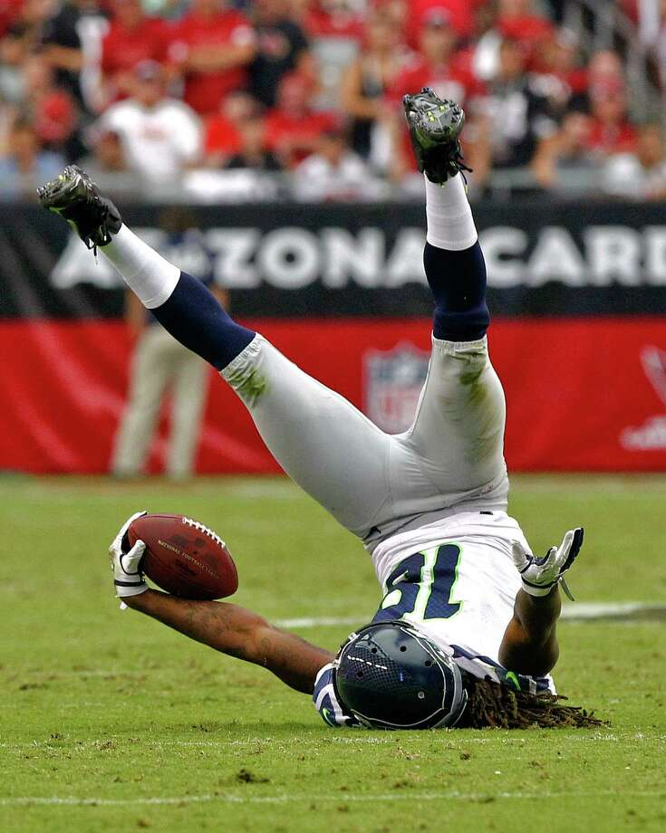 Seattle Seahawks wide receiver Sidney Rice makes the catch against the Arizona Cardinals during the first half of an NFL football game, Sunday, Sept. 9, 2012,in Glendale, Ariz. Photo: AP