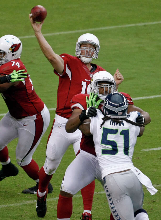 Arizona Cardinals quarterback John Skelton (19) throws against the Seattle Seahawks during the first half of an NFL football game, Sunday, Sept. 9, 2012,in Glendale, Ariz. Photo: AP