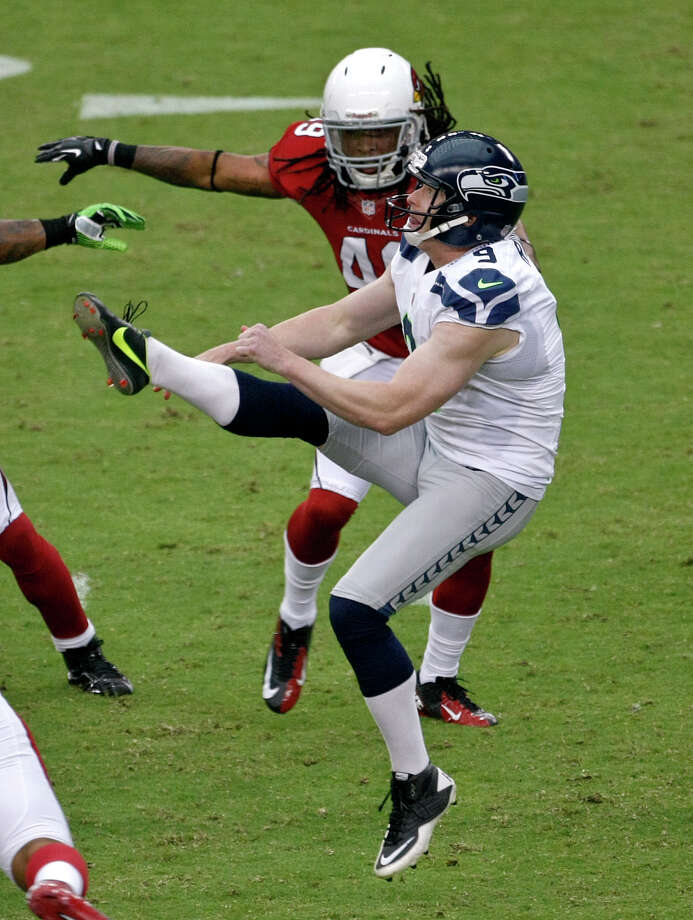 Seattle Seahawks punter Jon Ryan (9) gets the kick off against the Arizona Cardinals during the first half of an NFL football game, Sunday, Sept. 9, 2012,in Glendale, Ariz. Photo: AP