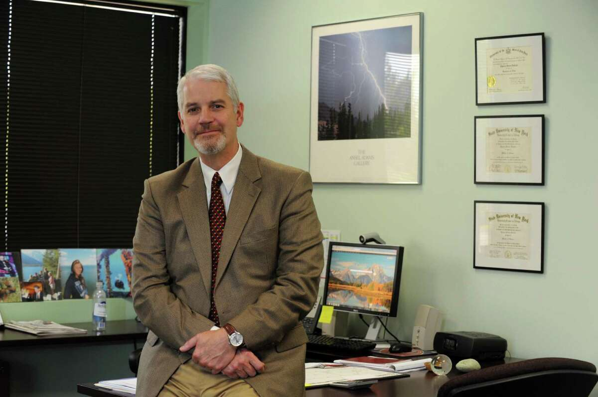 Capital Profile photo of Charles Dedrick, head of the Cap Region BOCES in his office, in Latham NY Friday Sept. 7, 2012. (Michael P. Farrell/Times Union)