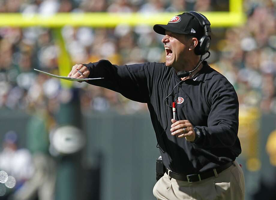 Jim Harbaugh's condition could be caused by stress. Photo: Matt Ludtke, SFC