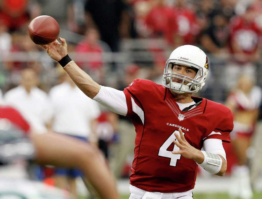 Arizona Cardinals' Kevin Kolb completes a pass against the Seattle Seahawks during the second half of an NFL football game, Sunday, Sept. 9, 2012, in Glendale, Ariz. The Cardinals defeated the Seahawks 20-16. Photo: AP