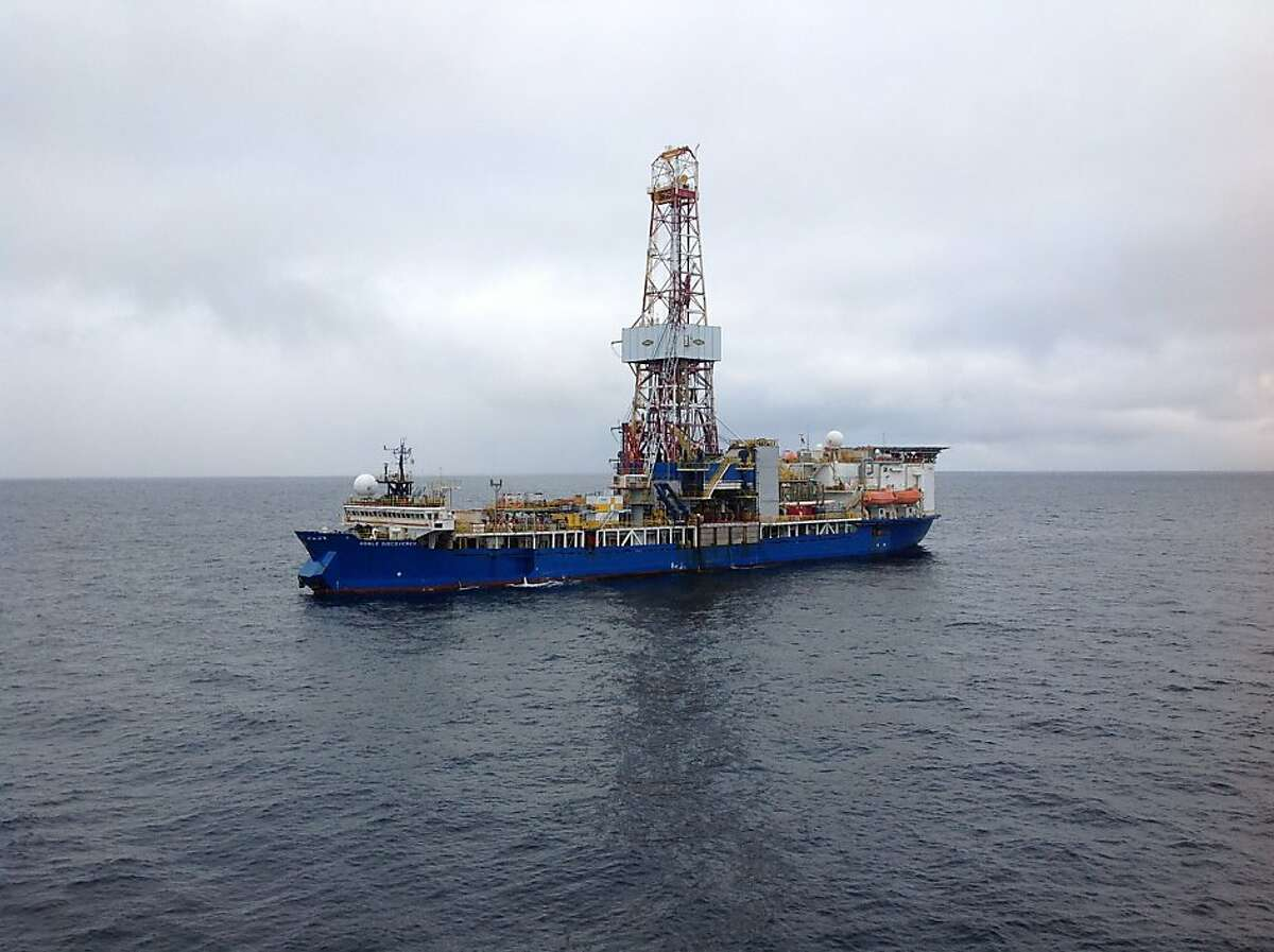 The Noble Discoverer prepares for its initial Chukchi Sea drilling operation.
