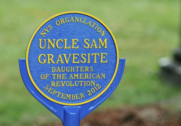 New markers were part of a rededication of the Uncle Sam burial site at Oakwood Cemetery, by the NYS Organization of the Daughters of the American Revolution, on Sunday Sept. 9, 2012 in Troy, NY.   (Philip Kamrass / Times Union) Photo: Philip Kamrass / 00019171A