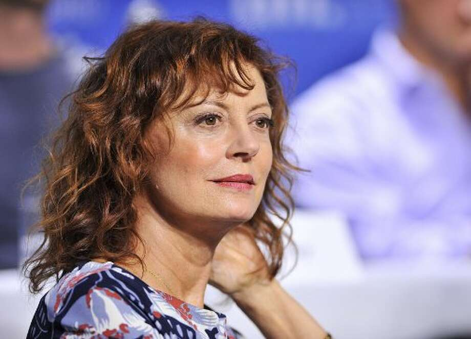 "Actress Susan Sarandon listens during the press conference for the film ""Cloud Atlas."" (ASSOCIATED PRESS)"