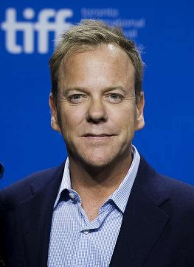 "Actor Kiefer Sutherland poses prior to the press conference for the film ""The Reluctant."" (AP)"
