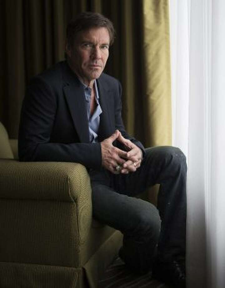 "Actor Dennis Quaid poses for a photo to promote the new movie ""At Any Price."" (AP)"