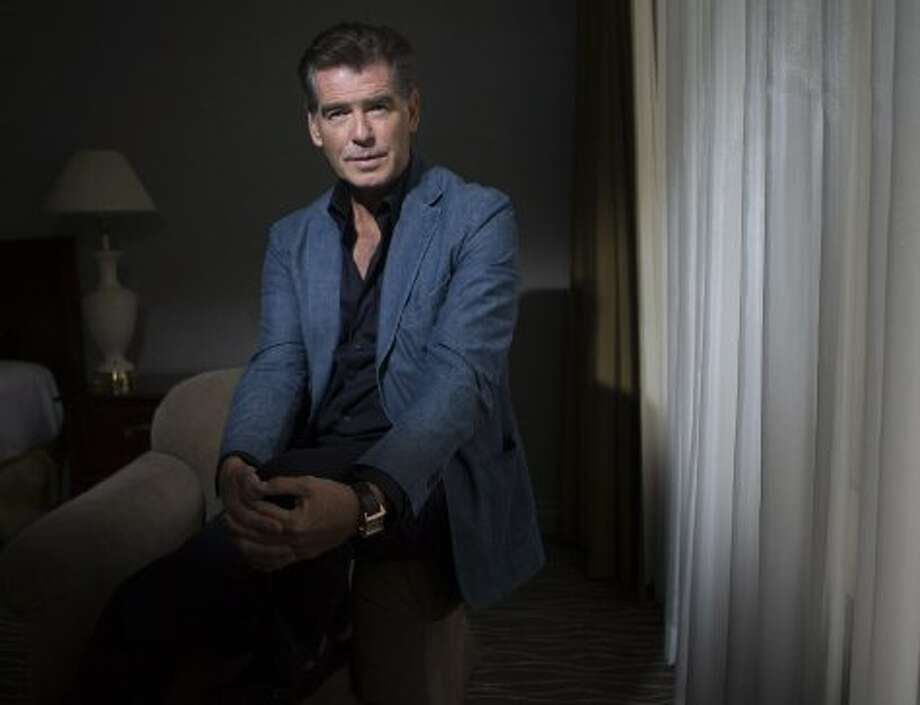 "Actor Pierce Brosnan poses for a photo to promote the movie ""Love is All You Need."" (AP)"