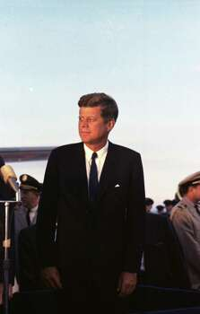 09/11/1962 - President John F. Kennedy arrives at International Airport in Houston to huddle with NASA's leadership and address a national audience from Rice to bolster his initiative to land American astronauts on the moon. Photo: Houston Chronicle / Houston Chronicle