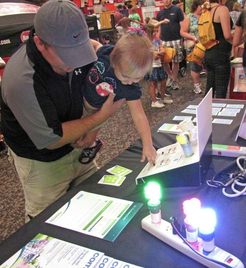 Teaching energy-saving values at an early age. 2012 Back to School Expo at the Empire State Plaza. Photo by Anne-Marie Sheehan. Photo: Anne-Marie Sheehan