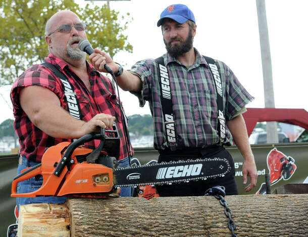 The Paul Bunyan Lumberjack Show at the 35th annual norwalk Oyster Festival at Veteran's Park on Saturday, September 8, 2012. Photo: Lindsay Niegelberg / Stamford Advocate