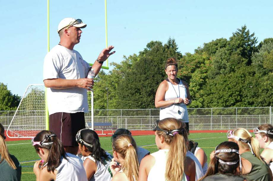 Norwalk field hockey coach Kyle Seaburg talks to his team during practive recently. He has reason to be optimistic this year as his squad went all the way to the state tourney last year. Photo: Andy Hutchison