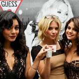 TORONTO, ON - SEPTEMBER 07:  (L-R) ActressesVanessa Hudgens, Ashley Benson, and Selena Gomez attend the Guess Portrait Studio on Day 2 during the 2012 Toronto International Film Festival at Bell Lightbox on September 7, 2012 in Toronto, Canada.  (Photo by Charles Leonio/Getty Images for Guess) (Charles Leonio / 2012 Getty Images)