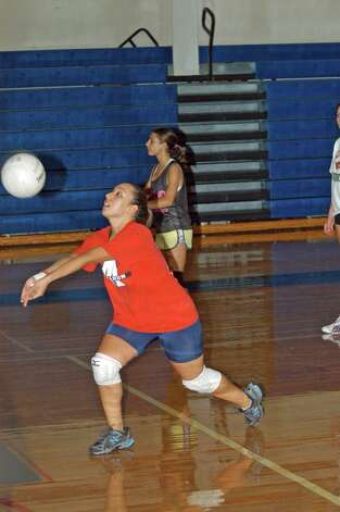 Michelle Petrucci is part of Brien McMahon volleyball team, which is looking for success on the courts this season. Photo: Andy Hutchison