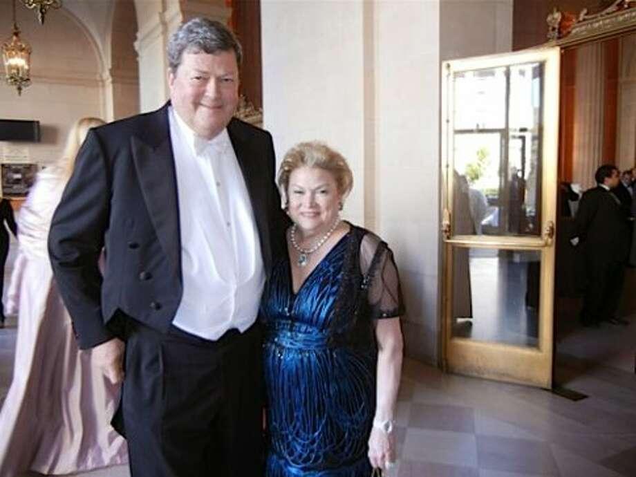 SF Opera Board Chariman John Gunn and his wife, SF Opera Ball Honorary co-chair Cynthia Gunn (in Carolina Herrera) (Catherine Bigelow)