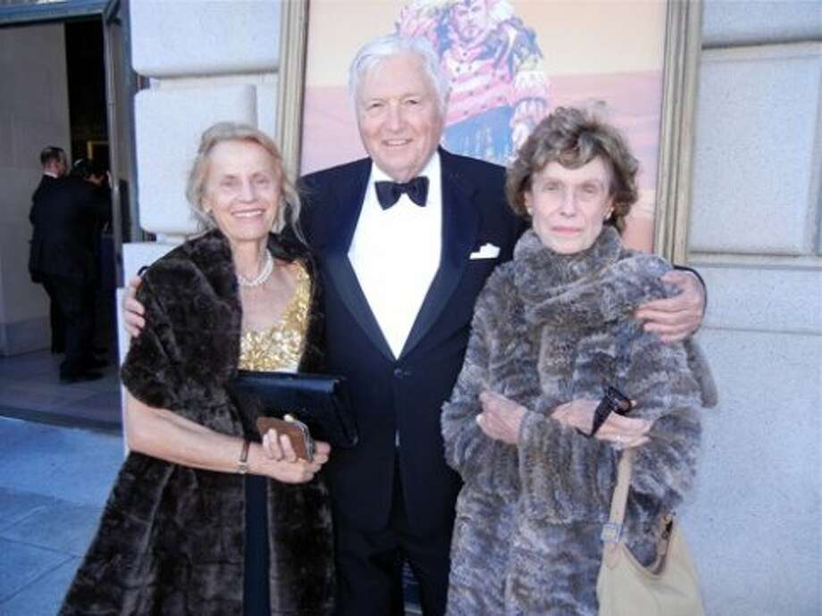 Dr. Regina Caspar (left) with SF Opera Board Chairman Emeritus Pitch Johnson and his wife, Cathie Johnson (Catherine Bigelow)
