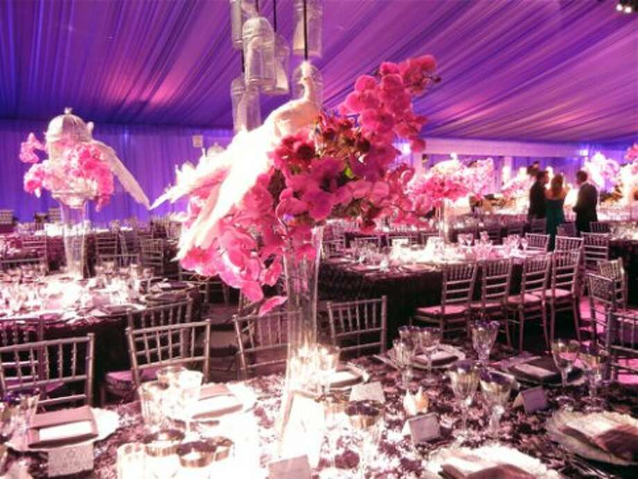 Interior of the Robert Fountain-designed Patron's Dinner Tent (Catherine Bigelow)