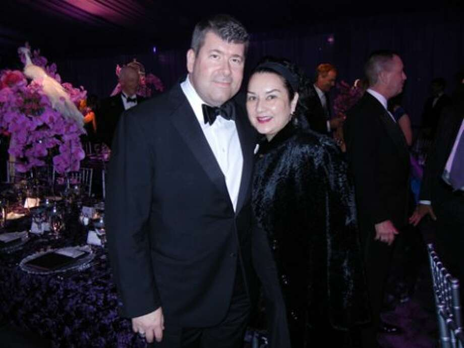 Presenting Opera Ball sponsor, Nordstrom GM Alan Morrell and Lisamarie Inesi (Catherine Bigelow)