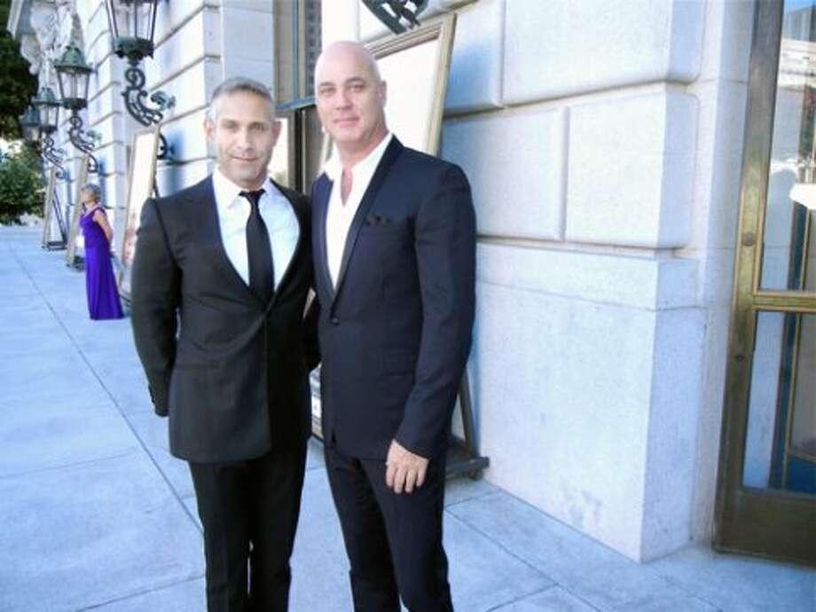 Lino Cortina (left and his partner, designer Robert Fountain (Catherine Bigelow)