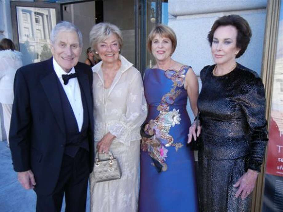 SF Opera Trustee Ray Dolby (left) with Gretchen de Baubigny, his wife, Dagmar Dolby and Joan Corrigan (Catherine Bigelow)
