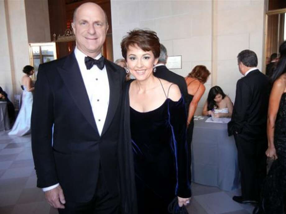Bill Fisher and his wife, SF Symphony President-elect Sako Fisher (in Richard Tyler couture) (Catherine Bigelow)