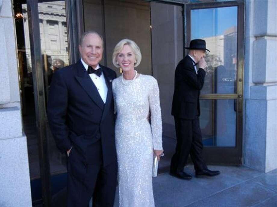 Charles and Patricia Sprincin (in Oscar de la Renta) (Catherine Bigelow)