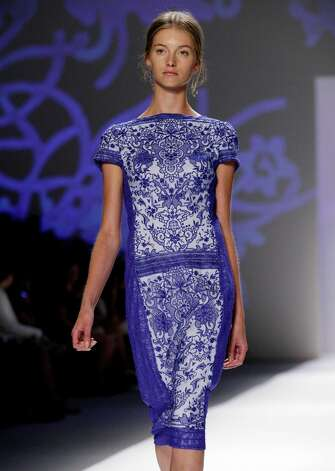 Tadashi Shoji photos for Tuesday NY Fashion week story (More TK) Photo: Richard Drew, STF -end- / AP