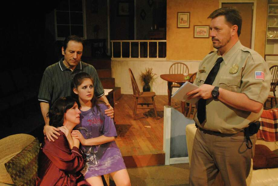 "Chad Miller (clockwise from right), Anna Gangai, Krystal Kohler and Robert Carenzo appear in the Sheldon Vexler Theatre staging of ""August: Osage County."" Photo: Courtesy Dylan Brainard"