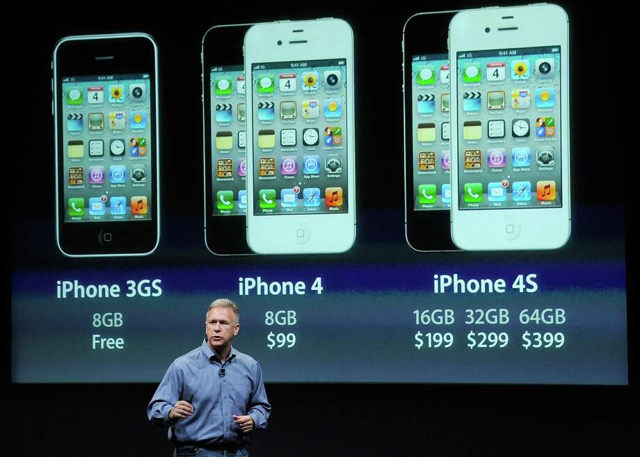 The most-recent iPhone launched was the iPhone 4s. Here's Phil Schiller, Apple senior vice president of worldwide product marketing, discussing the phone during the launch at the company's headquarters October 4, 2011 in Cupertino, Calif. Photo: Kevork Djansezian, Getty Images / 2011 Getty Images