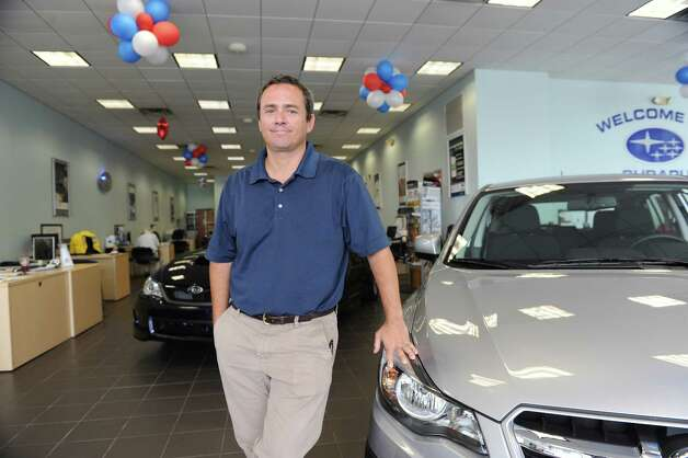 George D'Angelo, the general manager of Subaru Kia of Stamford,  Conn.Tuesday, Sept. 4, 2012. Photo: Helen Neafsey / Greenwich Time
