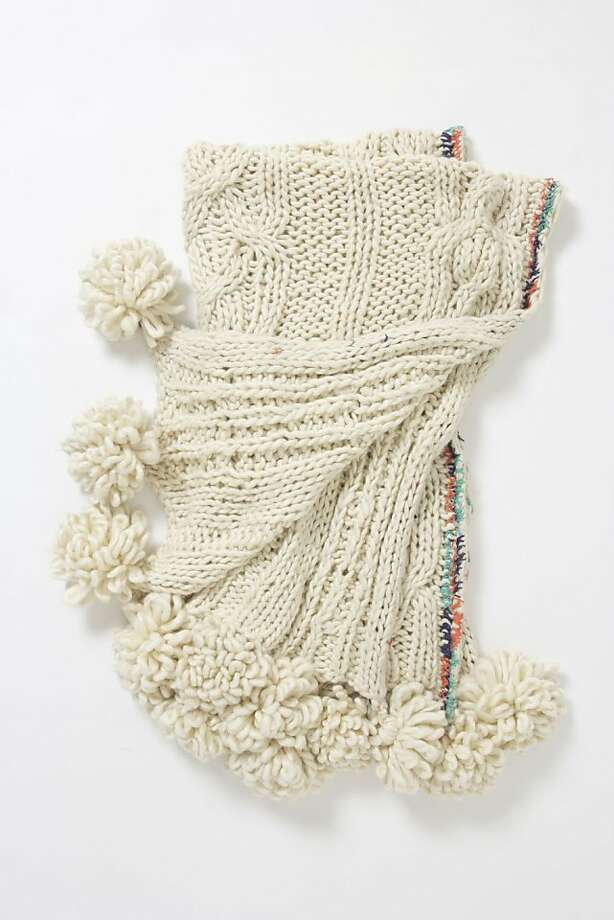 More: $228 Cabled Throw from Anthropologie (anthropologie.com) Photo: Anthropologie