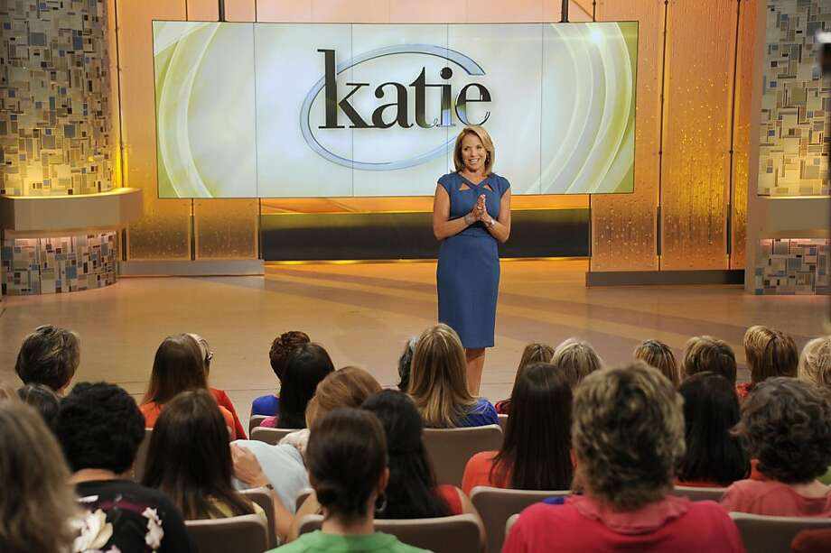 "This image released by ABC shows host Katie Couric making her debut appearance for her syndicated talk show ""Katie,"" Monday, Sept. 10, 2012 in New York. (AP Photo/Disney-ABC Domestic Television, Ida Mae Astute) Photo: Ida Mae Astute, Associated Press"