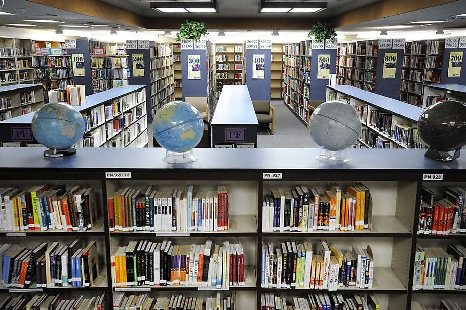 The library at James Logan High School in Union City, where a student was stabbed on Friday, according to police. Photo: Michael Short, Special To The Chronicle