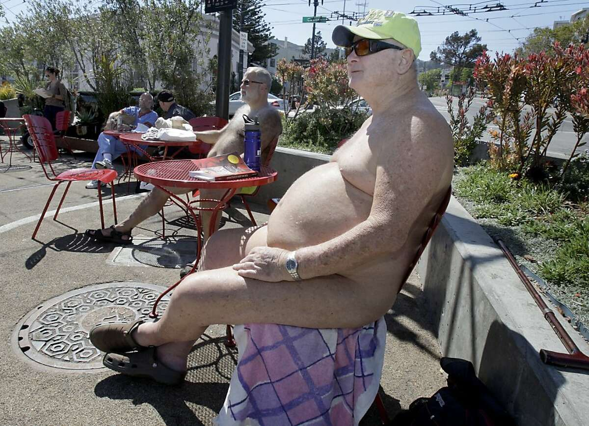 Ray, who declined to give his last name, sat in the parklike setting at Castro and Market Streets without any clothes on.San Francisco Supervisor Scott Weiner has apparently reversed his position on the naked guys who hang out at Castro and Market Streets.