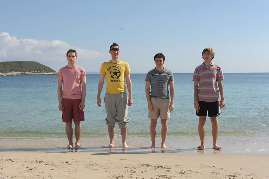 "The ""Inbetweeners"" are Simon Bird (left), James Buckley, Blake Harrison and Joe Thomas. Photo: Wrekin Hill Entertainment"