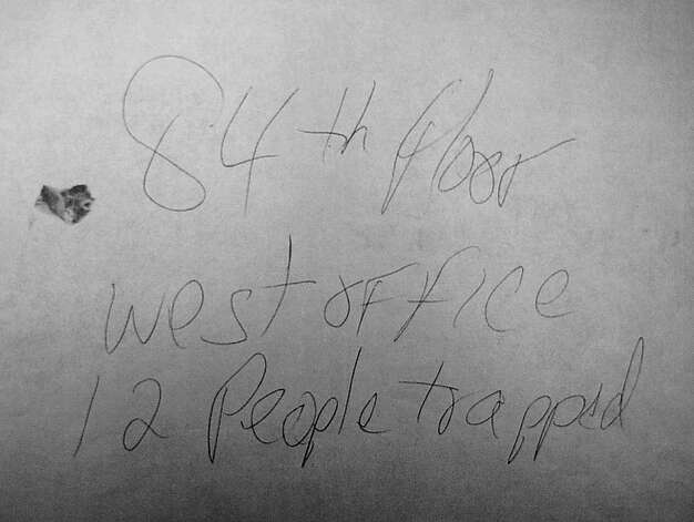 A smudge of blood about the size of a thumbprint allowed investigators to trace this note to Rick Scott. Photo: Contributed Photo