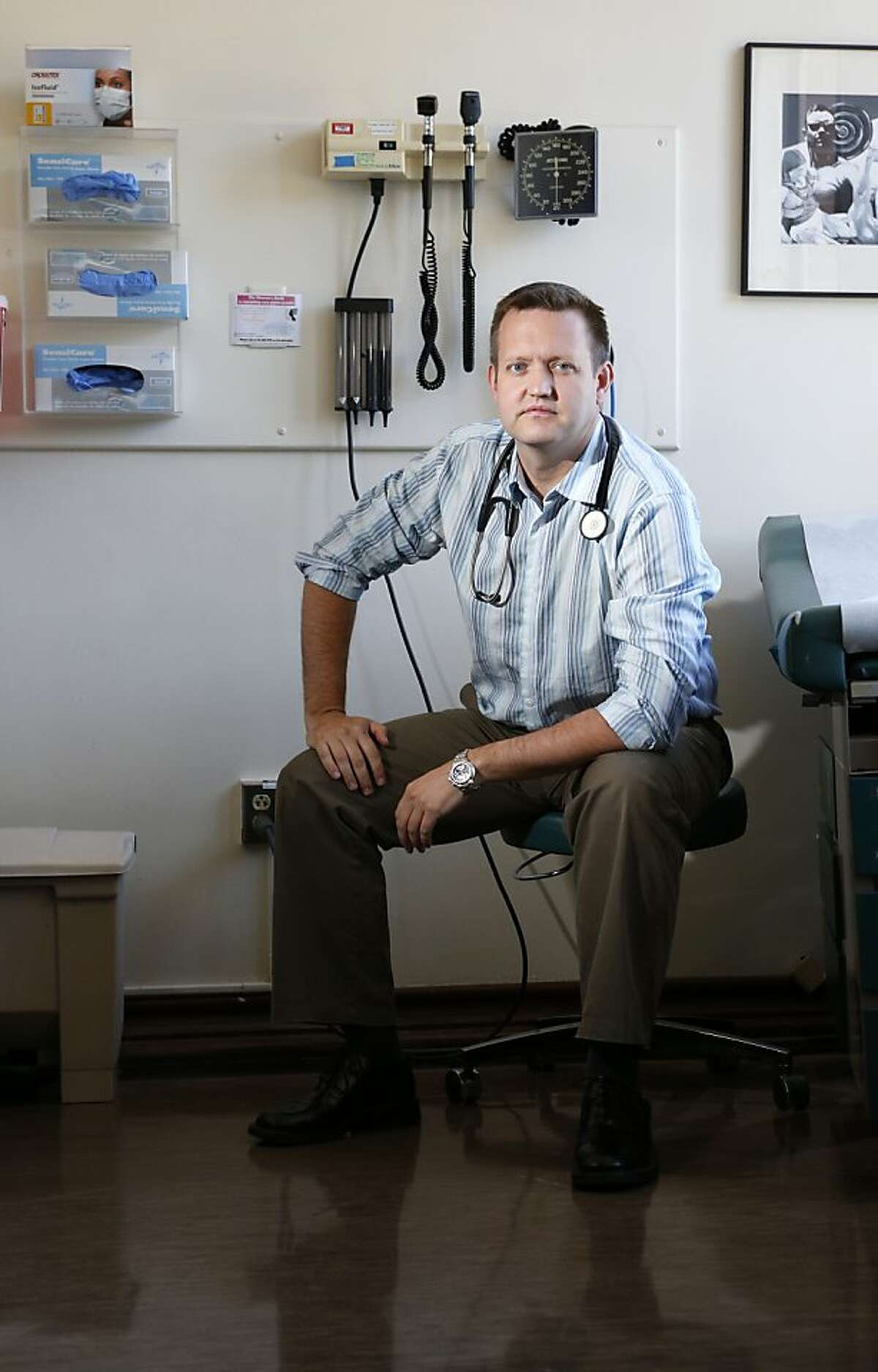 Medical Director of the HIV Clinic at San Francisco General Hospital, Dr. Brad Hare, photographed on Friday, September 7, 2012 in San Francisco, Calif.