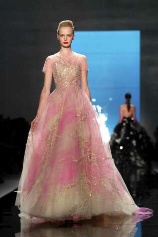 The Reem Acra Spring 2013 collection is modeled. Photo: Seth Wenig