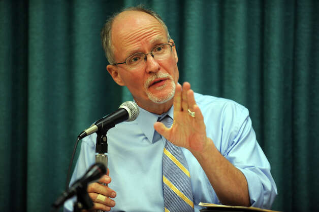 Supt. of Schools Paul Vallas speaks during the first meeting newly elected Bridgeport Board of Education at the Vocational Aquaculture School, in Bridgeport, Conn., Sept. 10th, 2012. Photo: Ned Gerard / Connecticut Post