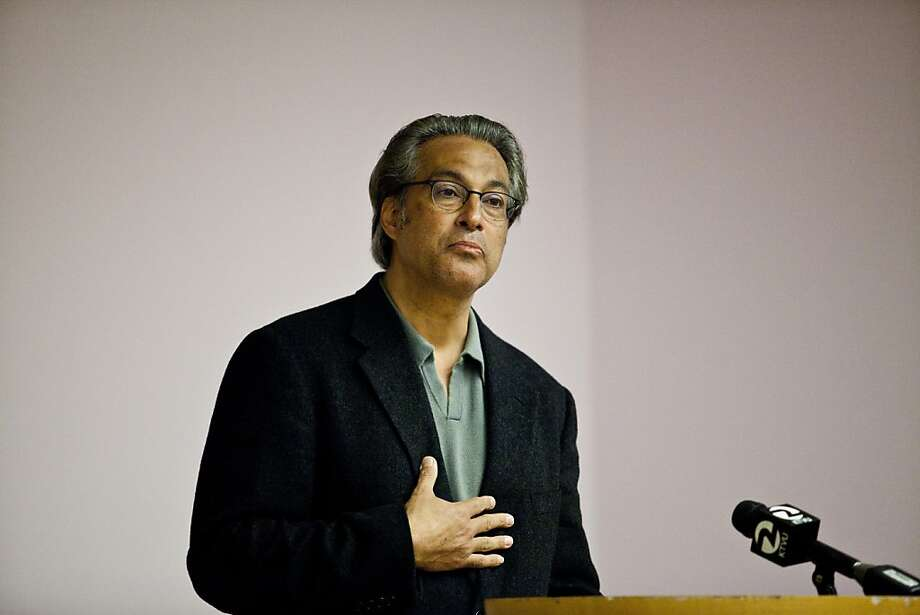 Suspended Sheriff Ross Mirkarimi speaks at a forum at the San Francisco Main Library. Photo: Jason Henry, Special To The Chronicle
