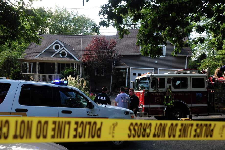 The scene of a propane explosion at 67 Wopowog Trail in Shelton, Conn. Monday, Sept. 10, 2012. Photo: Autumn Driscoll / Connecticut Post