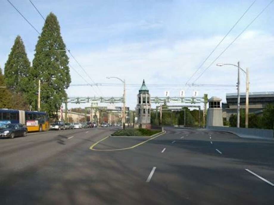 A rendering of what a second bascule bridge would look like from Montlake Boulevard.