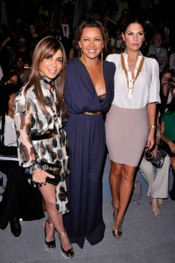 (L-R) Paula Abdul, singer Vanessa Williams and Daisy Fuentes attend the Carlos Miele Spring 2013 show during Mercedes-Benz Fashion Week.  (Stephen Lovekin / 2012 Getty Images)