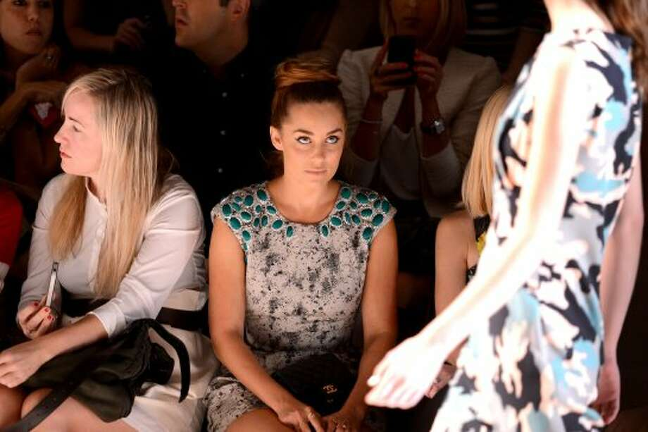 Lauren Conrad attends the Lela Rose Spring 2013 show during Mercedes-Benz Fashion Week. (Stephen Lovekin / 2012 Getty Images)