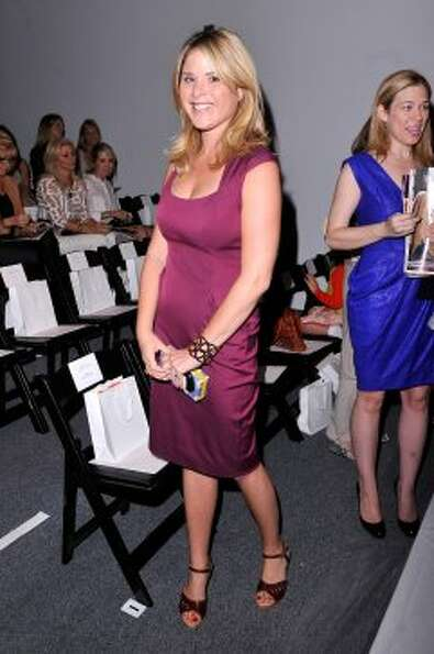 Jenna Bush Hager attends the Lela Rose Spring 2013 show during Mercedes-Benz Fashion Week. (Stephen